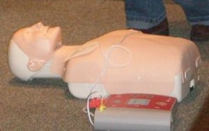 Annie with AED in class