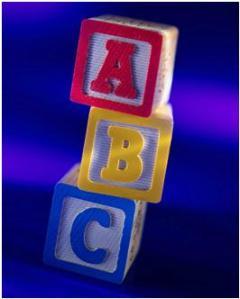ABC children's blocks