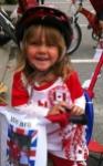 Jenny in bike helmet