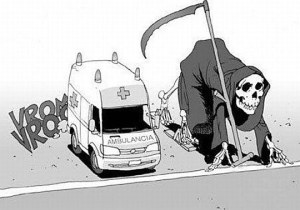 death vs ambulance