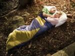 Couple Inside Sleeping Bag Together
