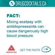 Drug Cocktail - Ecstasy and antidepressant